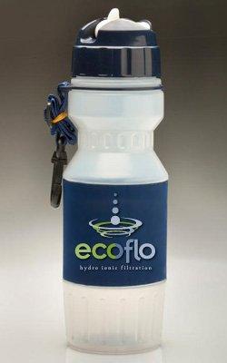ECOFLO Portable Water Filter Bottle Flip TOP - 26oz