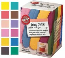 WILTON 12 ICING COLOR KIT .5 601-5580