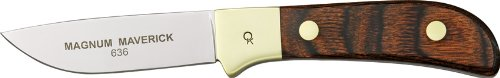 Old Hickory Kitchen Knives 636 Magnum Series - Classic Maverick Fixed Blade Knife With Dark Walnut Stamina Wood Handles