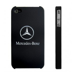 Novel Mercedes-benz Logo Back Cover Hard Case for Iphone 4 4th from m