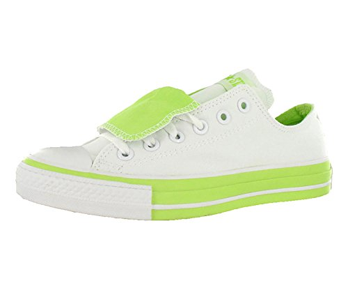 Converse All Star Chuck Taylor Double Tongue Ox Unisex Shoes Size US 8, Regular (D, M) Width, Color White/Lime