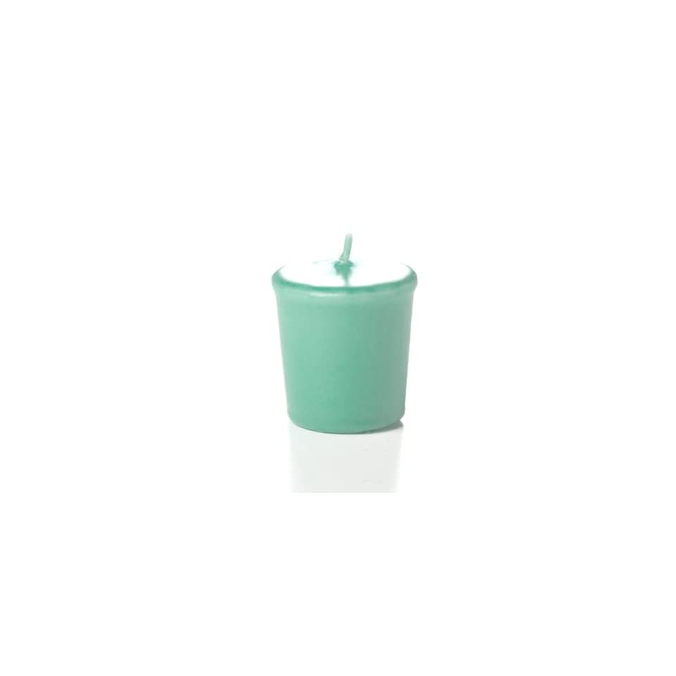 Yummi 15hr Unscented Aqua Green Votive Candles   9 per pack