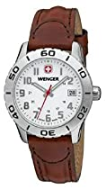 Wenger Grenadier Watch, White Dial, Brown Leather Strap 721.201