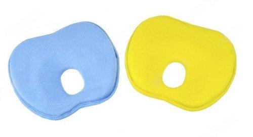 Mongkol Shop 2014 New Newborn Baby Pillows/Toddler Safe Anti Roll Pillow/ Sleep Head Positioner Preventing Flat Head (Blue) front-30657