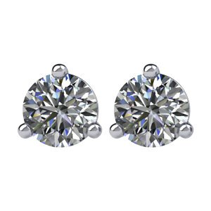 Genuine IceCarats Designer Jewelry Gift 14K White Gold Stud Earrings With Backs. Pair 1/4 Ct Tw I2, Ij Diamond Stud Earrings Stud Earrings With Backs In 14K White Gold