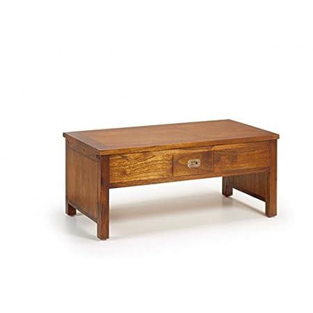 Moycor_Mesa de centro de madera elevable ideal para comedor, despachos y salas de estar (madera, tamaño 105 x 56 x 46/66)