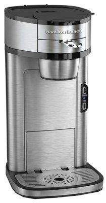 Hamilton Beach 49981 Single Serve Scoop Coffee Maker, Stainless Steel