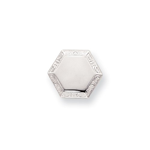 Rhodium Hexagon Tie Tack