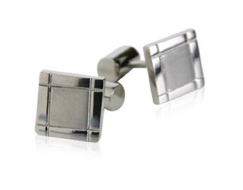 Jewelry Mountain Titanium Square Cufflinks