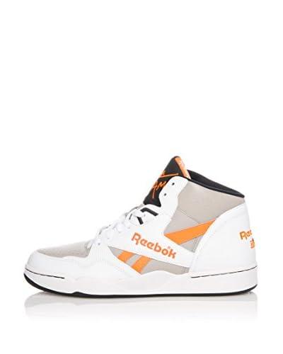 Reebok Sneaker Alta Sir Jam Mid [Bianco/Grigio/Corallo]