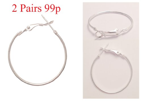 Silver 20mm Hoop Earrings