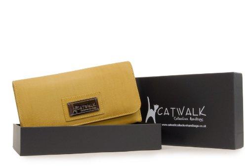Borsellino in pelle Catwalk Collection - Gemma - scatola regalo - Giallo