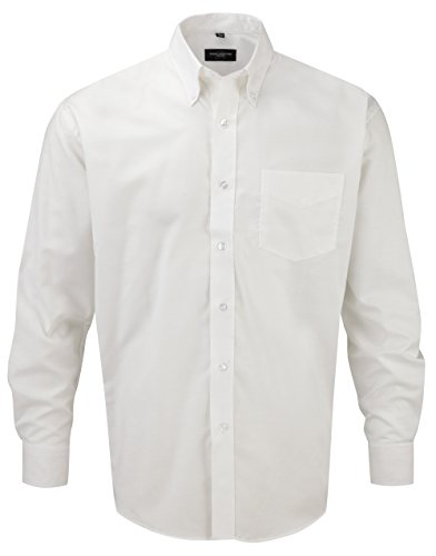 russell-collection-facile-oxford-chemise-a-manches-longues-en-matelas-grande-taille-xxxxxl-blanc-bla