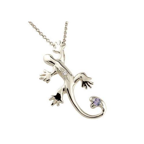 [アトラス] Atrus トカゲ 蜥蜴 ネックレス ネックレス アメジスト ダイヤモンド シルバー925 SV925 トカゲモチーフ ハートの尻尾 ネックレス メンズ 2月誕生石