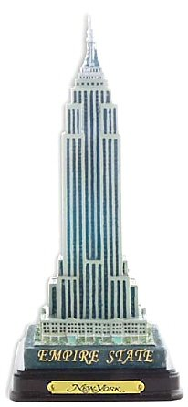 6.5 Inch Executive Empire State Building Replica New York City Souvenir Statue with Wood Base and Brass Plaque (Empire State Building Replica compare prices)