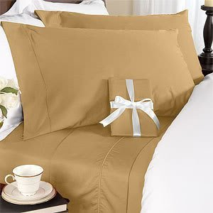 21 Inches Extra Deep Pocket - 1200 Thread Count Egyptian Cotton Sheet Set, 1200Tc, King, Solid Brown front-895066