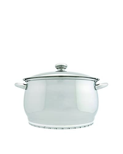 """BergHOFF Cosmo 7-Qt. Covered Stock Pot, Silver, 10"""""""