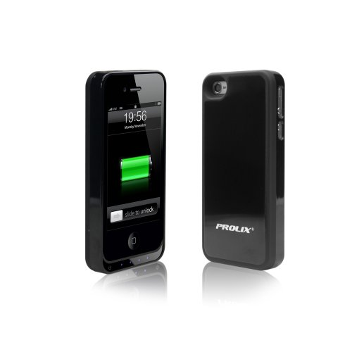 Prolix Power Iphone 4/4S Protective External Battery Case - Fits All Versions Of Iphone 4 (Black)