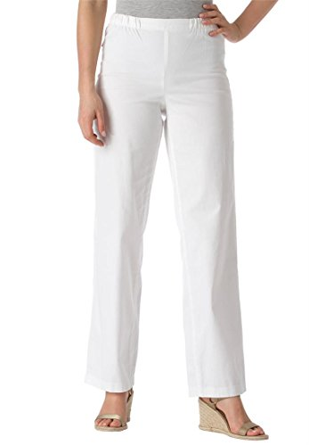 Women's Plus Size Jeans, Stretch, Relaxed Fit, Wide-Leg, Pull-On Styling