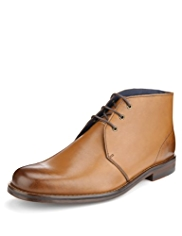 Autograph Leather Layered Sole Chukka Boots