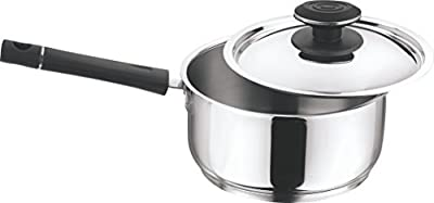Vinod Cookware 202 Tivoli Saucepan With Lid, 2-Pieces Silver