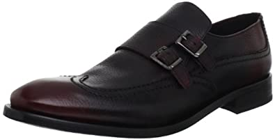 Plectrum by Ben Sherman Men's Montaigne Monkstrap, Oxblood,40 EU/7-7.5 M US