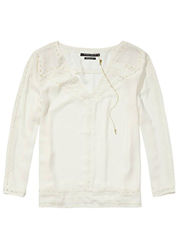 Maison Scotch-Camicetta Taglio femminile Out-Off Bianco Off white L