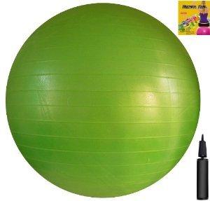 Gymnastikball, inkl. Pumpe und Übungsanleitungen, 65cm, Grün Ohne Übungs-DVD (Swissball Gymnastikball)
