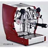 European Gift & Housewares Cuadra Semi-Professional Espresso and Cappuccino Machine, 1.8-Liter Boiler, Red and Stainless Steel