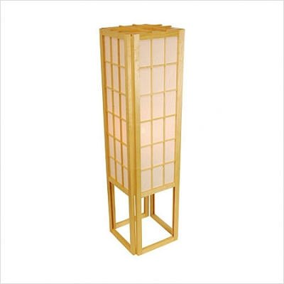 Window Pane Shoji Floor Lamp Color: Natural