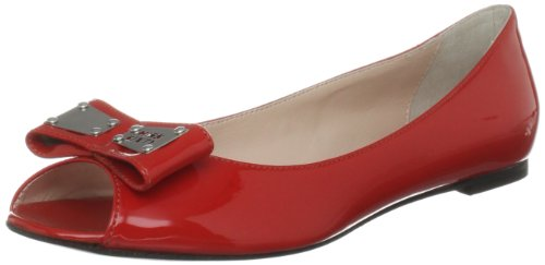 Miss Sixty Women's Amber Red Open Toe Flats Q02005-PP9281-C01300