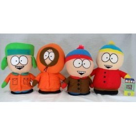 4pc SOUTH PARK Cartman Kenny Kyle Stan Plush Doll Toy 4pc