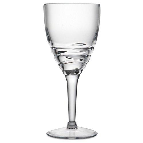 Swirl Acrylic Wine Glass (Clear) swirl eio80