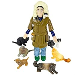 Funny product Accoutrements Crazy Cat Lady Action Figure