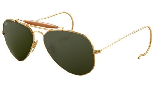 Ray-Ban Outdoorsman 3030 Aviator Sunglasses with Wire Wrap Ears (Rb 3030 compare prices)