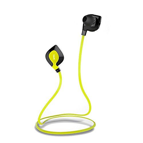HAVIT HV-H914BT ワイヤレス スポーツイヤホン ヘッドセット 防汗防水 iPhone6/6プラス/5s/5c/4s/4、iPad 2/3/4、新しいiPad iPod、AndroidといったスマートフォンBluetooth装置に適用する (黄色) [並行輸入品]