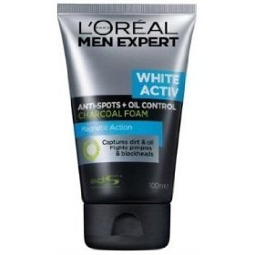 L'Oreal Men Expert White Activ Anti Spots Oil Control Charcoal Foam 100 ml