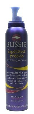 Aussie Instant Freeze Sculpting Mousse 6 oz. (3-Pack) with Free Nail File