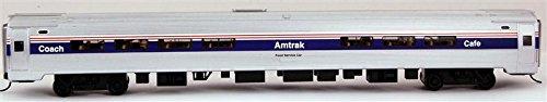bachmann-13112-h0-silver-seriesr-85-amfleet-amtrak-passenger-cafe-phase-iv