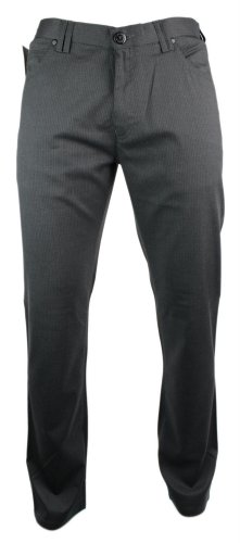 Mens Slim Fit Italian Design Trousers Dark Grey Design Smart *Reg*