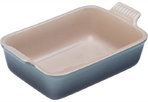 Le Creuset Heritage Stoneware 12-by-9-Inch Rectangular Dish, Fennel