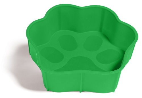 Flexi-Bowl Small Pet Bowl, Green
