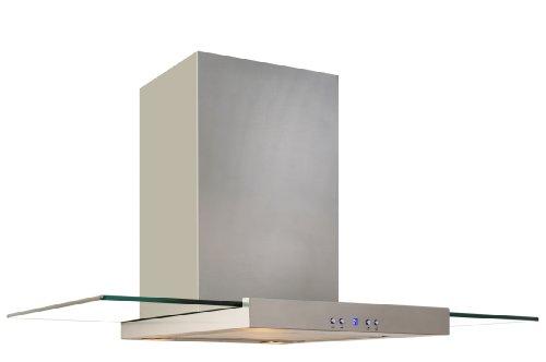 Baumann Design Edelstahl Dunstabzugshaube Tukan, 80 cm breit. 850 m3/h Abluftleistung, 4 Stufen Soft-Touch-Display
