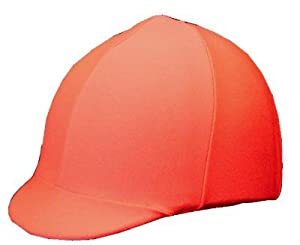 Equestrian Riding Helmet Cover - Hunter Orange
