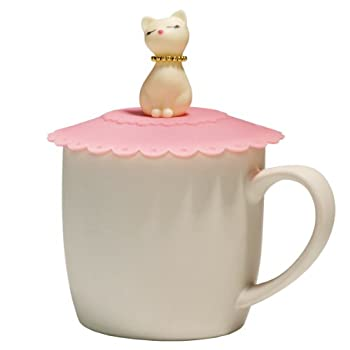 Pink Cat Cup Cover