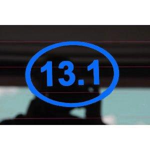 13 1 ol euro oval minis 2 pack 1 2 marathon for 13 1 window sticker