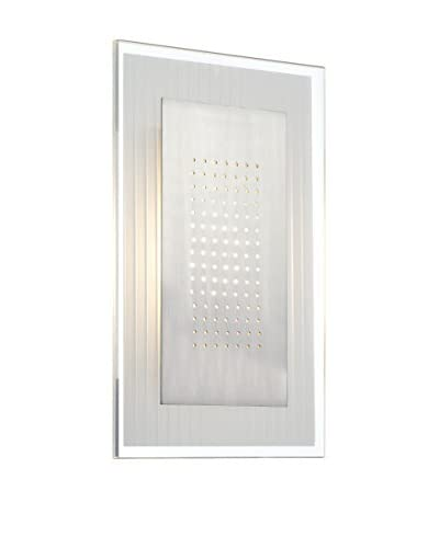 Lite Source LS-16937 Flynn - LED Light Wall Sconce, Polished Steel/Frosted