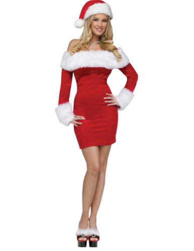Santa Sweetie Adult Costume Sm-Md Adult Womens Christmas Costume