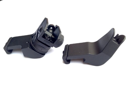 Ar15 Ar 15 Front And Rear 45 Degree Rapid Transition Buis Backup Iron Sight By Ade Advanced Optics