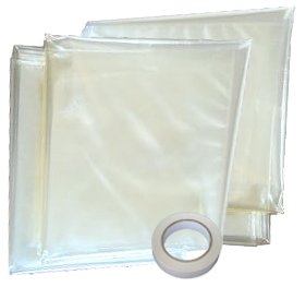 Window Insulation Shrink Plastic Film Fit Inside Storm Windows 4 Pack Kit, Weathersealing